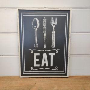 """""""Eat"""" Chalkboard Style Wall Art"""